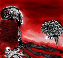 Frieden, Kelch, Illustrationen, Knochen