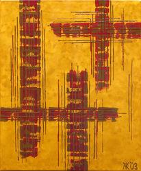 Acrylmalerei, Malerei, Kopp, Abstrakt