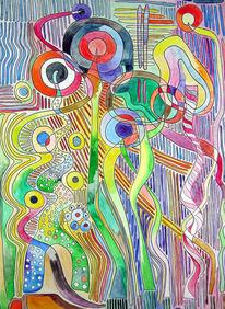 Ölmalerei, Atelier, Gelb, Dame