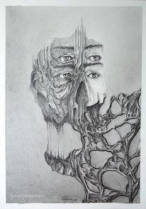 Gesicht, Bleistiftzeichnung, Anatomie, Zeichnung