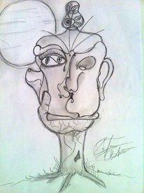 Bleistiftzeichnung, Zeichnung, Leidenschaft, Menschen