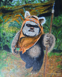 Ewok, Wesen, Starwars, Malerei