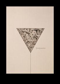 Dotwork, Geometrie, Abstrakt, Mond