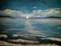 Sonne, Blau, Meer, Malerei
