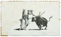 Stier, Pferde, Tauromachie, Zeichnungen