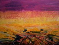 Mystik, Fantasie, Pastellmalerei, Landschaft