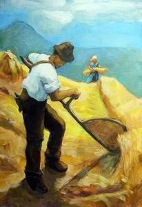 Arbeit, Getreide, Gefühl, Bauer