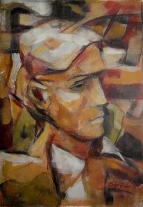 Malerei, Portrait, Philosoph, Figural