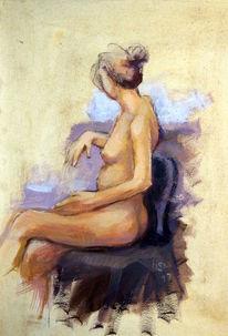 Akt, Erotik, Frau, Acrylmalerei
