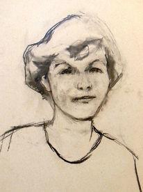 Frau, Zeichnung, Klassisch, Portrait