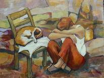Hund, Stille, Stuhl, Zu zweit