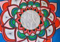 Mandala, Acrylmalerei, Malerei,