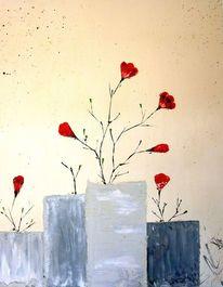 Rot, Malerei, Marmormehl, Abstrakt