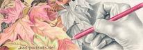 Buntstiftzeichnung, Bleistiftzeichnung, Laub, Blätter