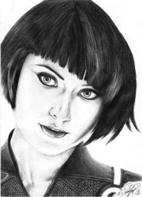 Zeichnen, Quorra, Tron, Portrait