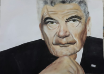 Politik, Mann, Portrait, Acrylmalerei