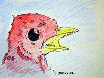 Vogel, Zeichnungen, Tiere