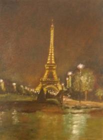 Licht, Wasser, Eiffelturm, Baum