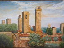 Sommer, Toskana, Sonne italien, Malerei