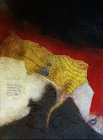 Rot schwarz, Gold, Collage, Gesellschaft