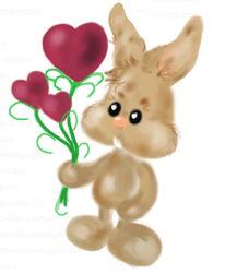 Hase, Ostern, Herz, Liebe