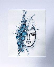 Wasser, Blau, Gesicht, Portrait
