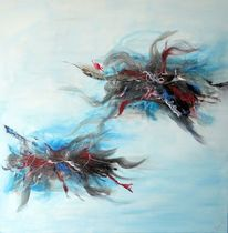Acrylmalerei, Abstrakt, Geburtstag, Rot
