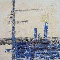 Acrylmalerei, Geburtstag, Blau, Gemälde