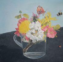 Wiese, Hummel, Marienkäfer, Blumen