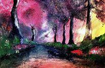 Neon, Abstrakt, Acrylmalerei, Farben