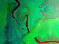 Grün, Hand, Traum, Malerei