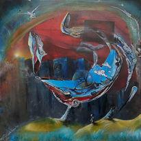 Umwelt, Zerfall, Unumkehrbar, Malerei