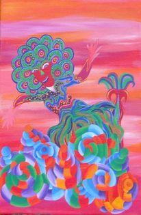 Freude, Tanz, Schnecke, Malerei