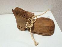 Schuh holz eiche, Kunsthandwerk, Holz