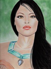 Pastellmalerei, Gesicht, Menschen, Realismus