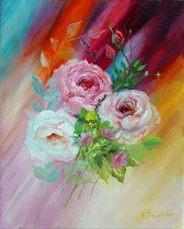 Malerei, Blumen, Ölmalerei