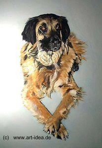 Tiere, Acrylmalerei, Portrait, Malerei