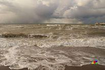 Meer, Wind, Wolken, Sand