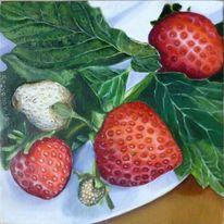 Kasyanov, Erdbeeren, Stillleben, Ölmalerei