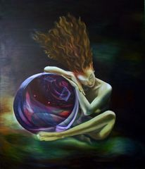 Akt, Menschen, Ruhe, Ölmalerei