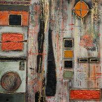 Farben, Strukturieren, Fantasie, Abstrakt