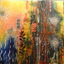Natur, Blumen, Sonne, Abstrakt