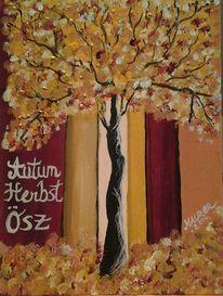 Herbst, Farben, Acryl farben, Malerei