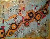 Farben, Zeit, Abstrakt, Modern dekorativ