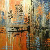 Farben, Abstrakt, Frühling, Malerei
