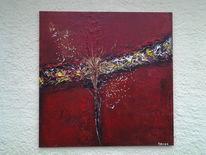 Rot, Treume, Acrylmalerei, Abstrakt