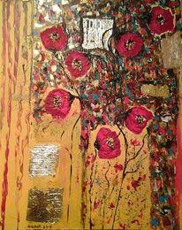 Farben, Abstrakt, Spachteltechnik, Blumen