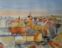 Stadt, Brandenburg, Blick von oben, Über den dächern