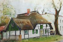 Fischerhaus, Fachwerk, Landhaus, Dorf