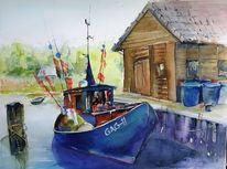 Rügen, Fischerboot, Gager, Fischerkahn